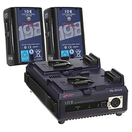 《新品》【送料無料、在庫あり!】IDX DUO-C198 2本+VL-2PLUS Vマウントバッテリー・充電器セット