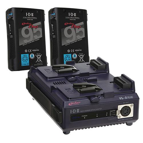 IDX DUO-C95 2本+VL-2PLUS Vマウントバッテリー・充電器セット