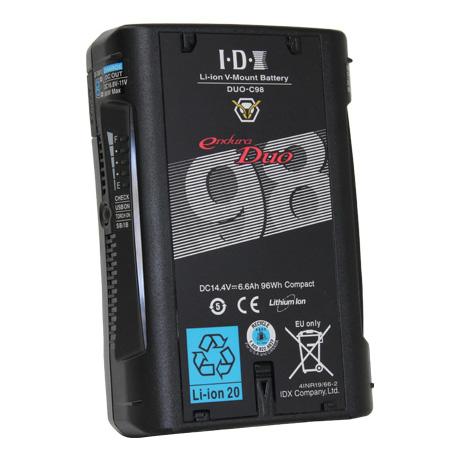 IDX DUO-C98 Vマウントタイプ リチウムイオンバッテリー