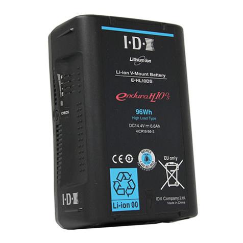《新品》【送料無料、在庫あり!】IDX E-HL10DS Vマウントタイプ リチウムイオンバッテリー