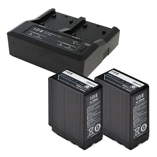 IDX SL-VBD50 2本+LC-2A 7.4Vバッテリー・充電器セット