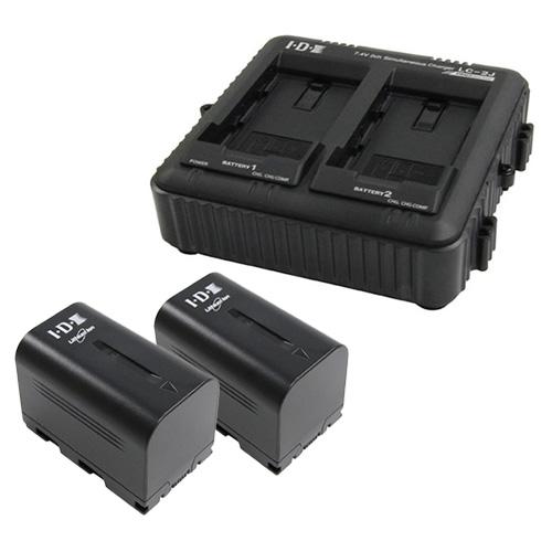 IDX SSL-JVC50 2本+LC-2J 7.4Vバッテリー・充電器セット