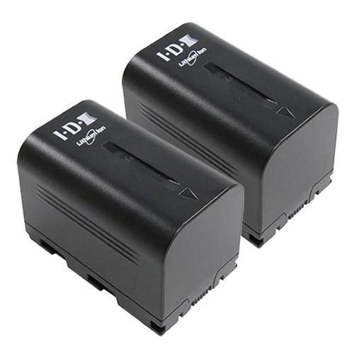 IDX SSL-JVC50 2本 7.4Vリチウムイオンバッテリー
