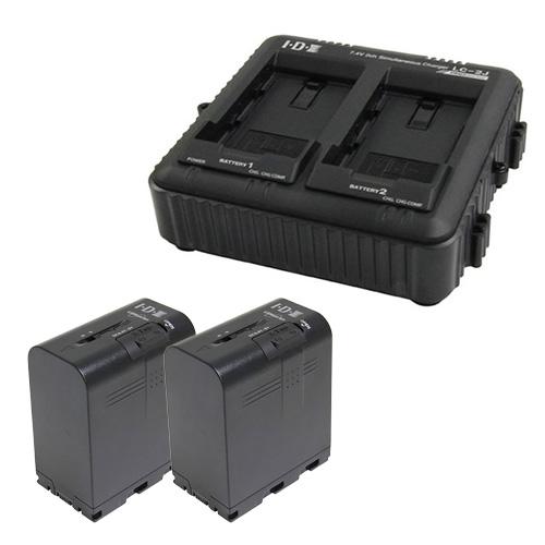 IDX SSL-JVC75 2本+LC-2J 7.4Vバッテリー・充電器セット