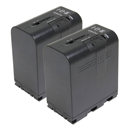 IDX SSL-JVC75 2本 7.4Vリチウムイオンバッテリー