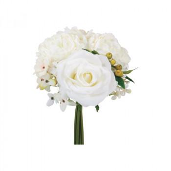 アーティフィシャルフラワー ミックスローズバンドル ホワイト 6束セット T0281 アレンジメント送料込!【代引・同梱・ラッピング不可】