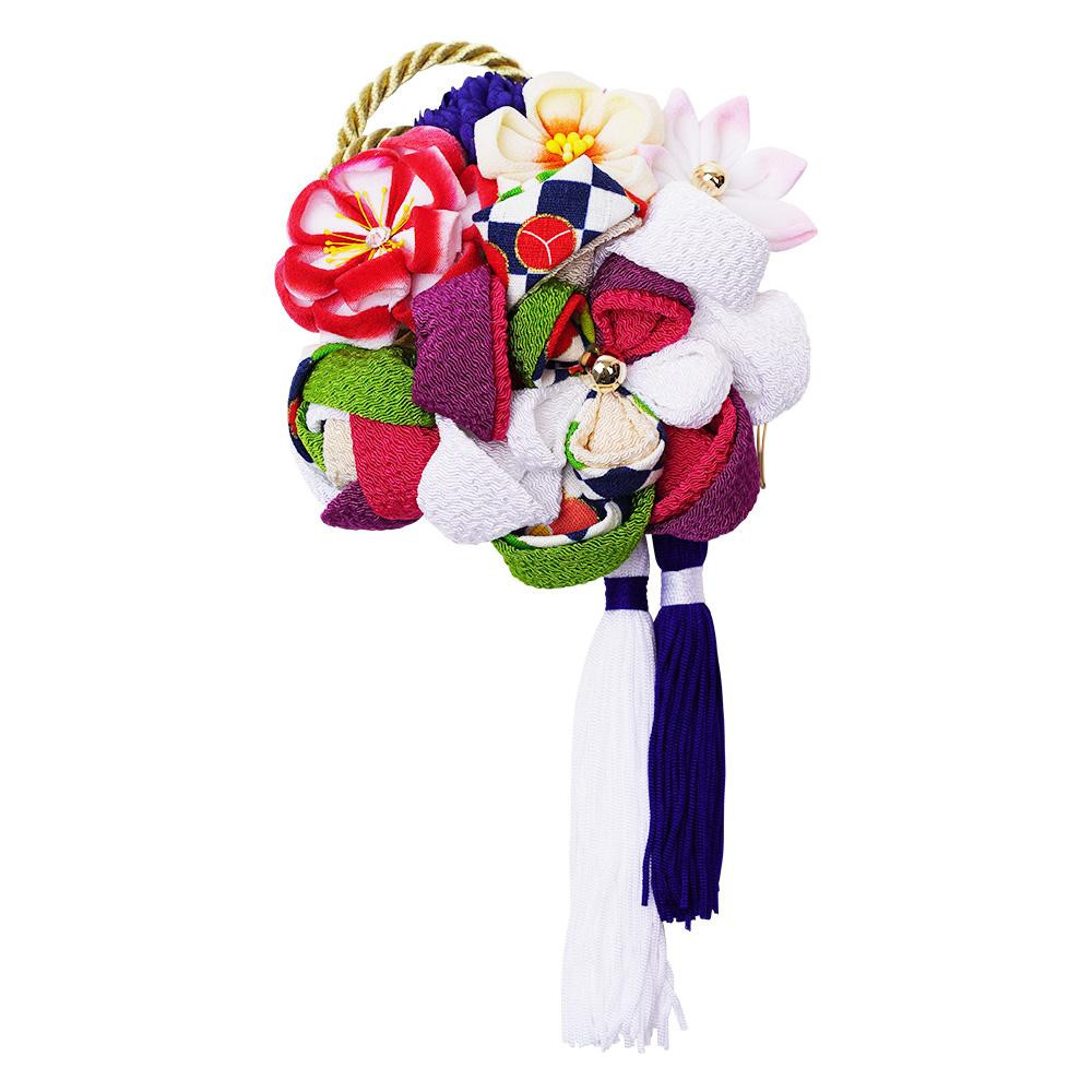 レトロポップな和風髪飾り 224-021 シロ