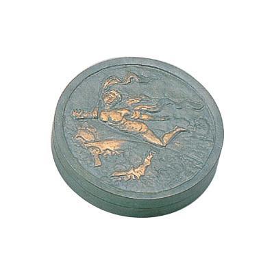 高岡銅器 銅製置物 北村西望作 朱肉入 天女 大 25-11