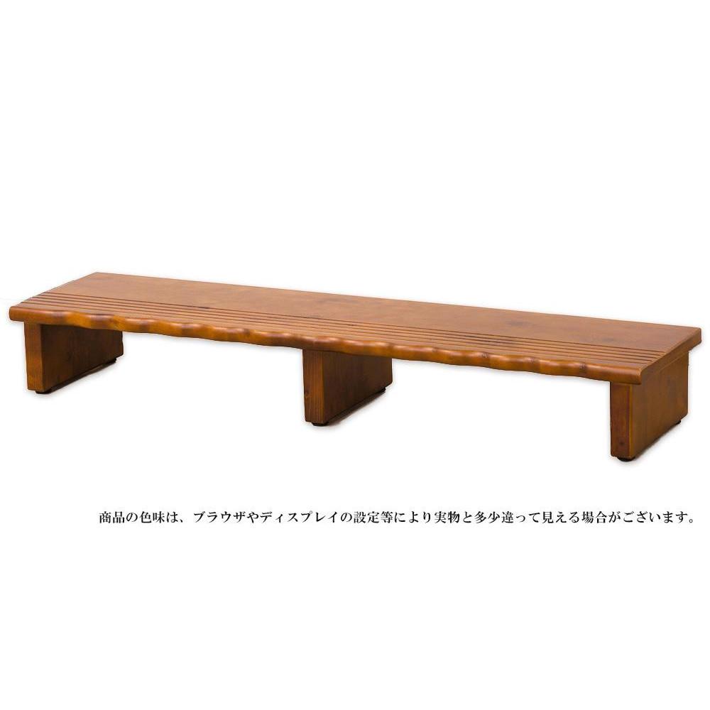 天然木 玄関台120 4225【代引・同梱・ラッピング不可】