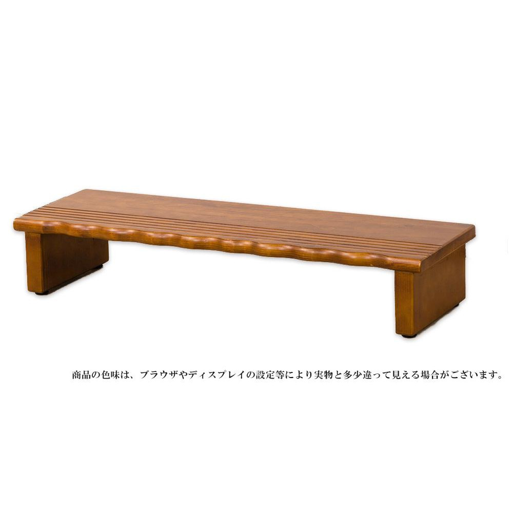 天然木 玄関台90 4224【代引・同梱・ラッピング不可】