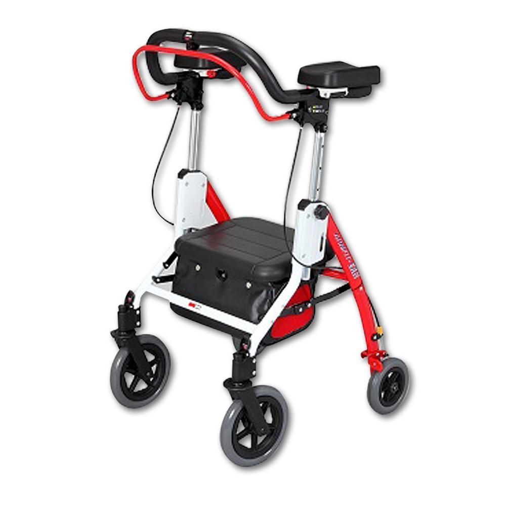 アームフィットEXR 室内外兼用歩行車 肘置パッド付 レッド EXR-698E【代引・同梱・ラッピング不可】