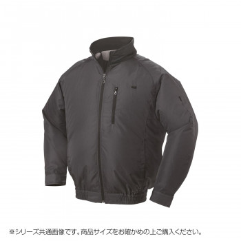 NA-301B 空調服 充黒セット 3L チャコールグレー ポリ タチエリ 8210041