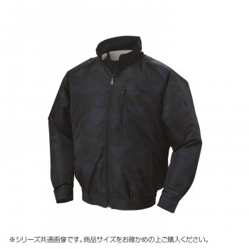 NA-102C 空調服 充黒セット M 迷彩ネイビー チタン タチエリ 8118977