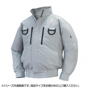 NA-113 空調服フルハーネス (服 L) シルバー チタン タチエリ 8209417