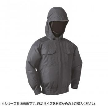NB-101C 空調服 充黒セット L チャコールグレー チタン フード 8119165