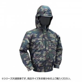 NB-102C 空調服 充黒セット 3L 迷彩グリーン チタン フード 8119184