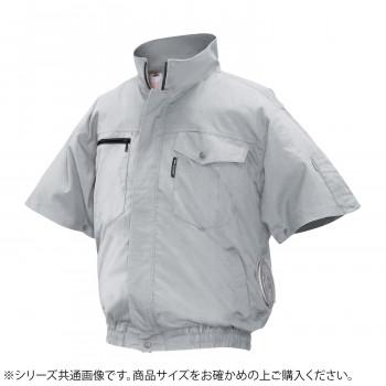 ND-2011 Nクールウェア 半袖 (服 3L) シルバー 綿 タチエリ 8211979