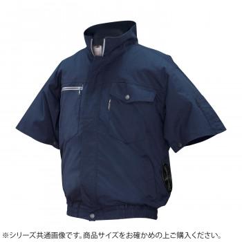 ND-2011 Nクールウェア 半袖 (服 3L) ネイビー 綿 タチエリ 8211986