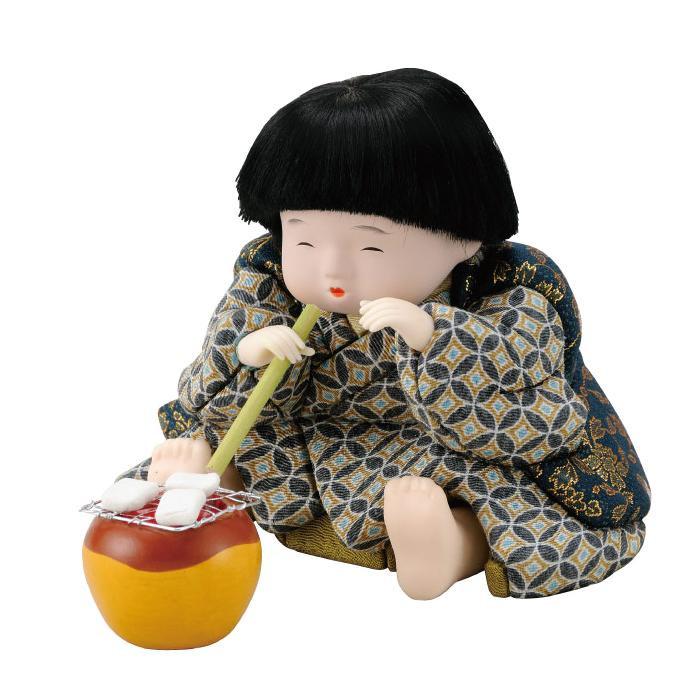 01-720 木目込み人形 えがお餅 完成品