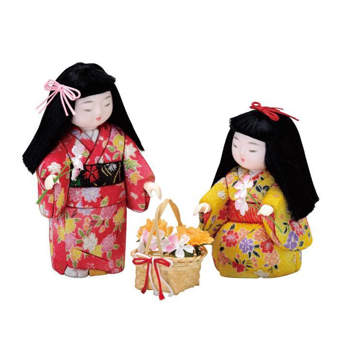 01-759 木目込み人形 お花畑 完成品