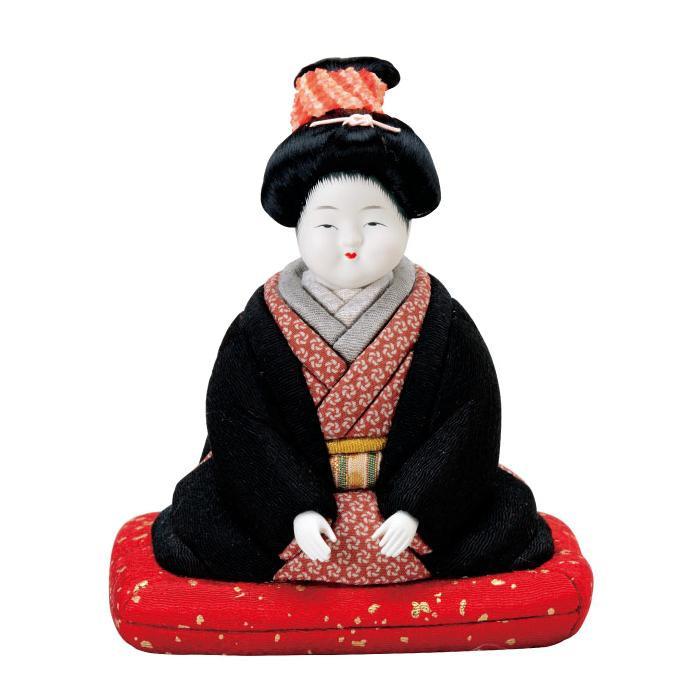 01-549 木目込み人形 お福さん(豆) 完成品
