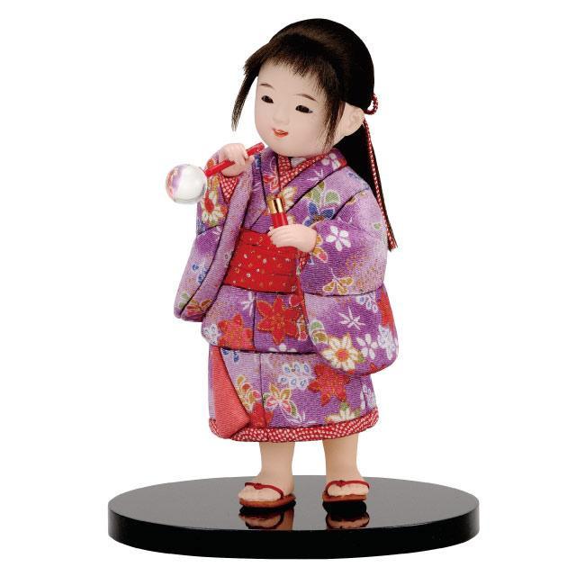 01-678 木目込み人形 しゃぼん玉 完成品