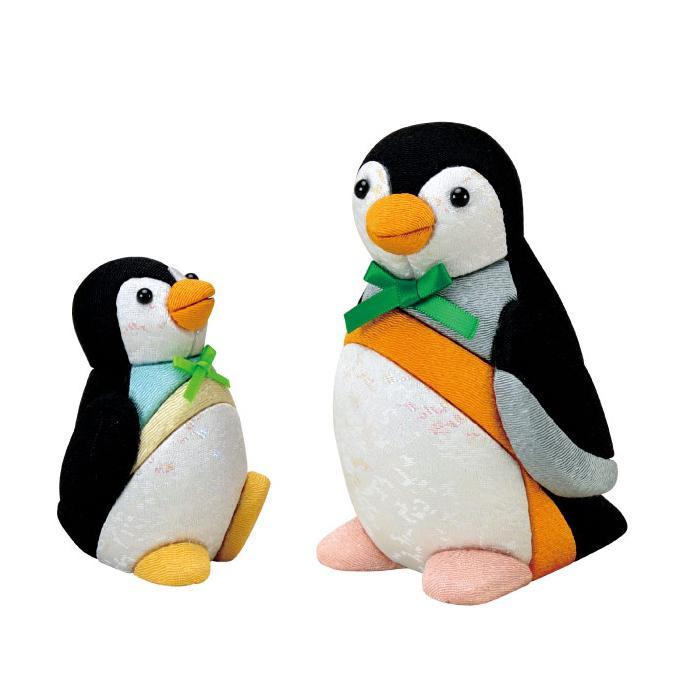 01-837 木目込み人形 ペンギンの親子 完成品
