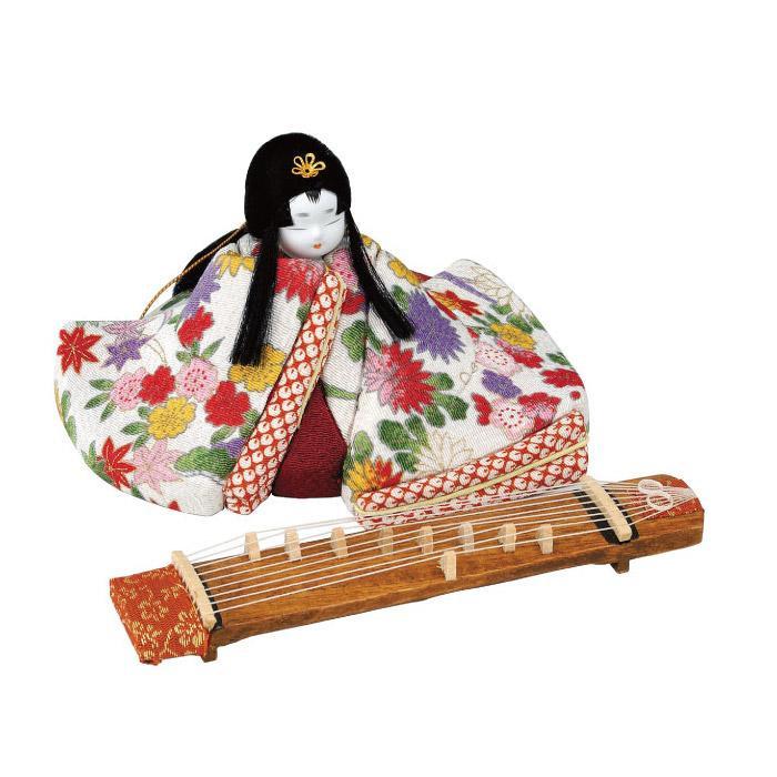 01-575 木目込み人形 花の調べ(琴付) 完成品