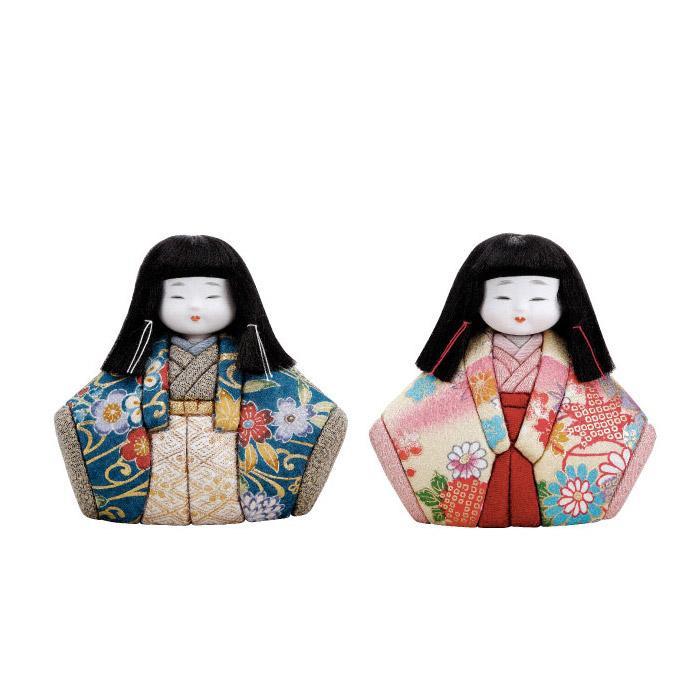 01-648 木目込み人形 花扇 完成品