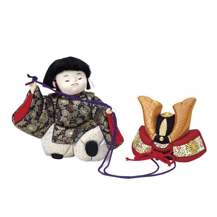 01-525 木目込み人形 兜曳き童子 セット