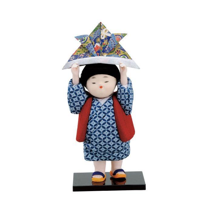 01-382 木目込み人形 兜童べ 完成品