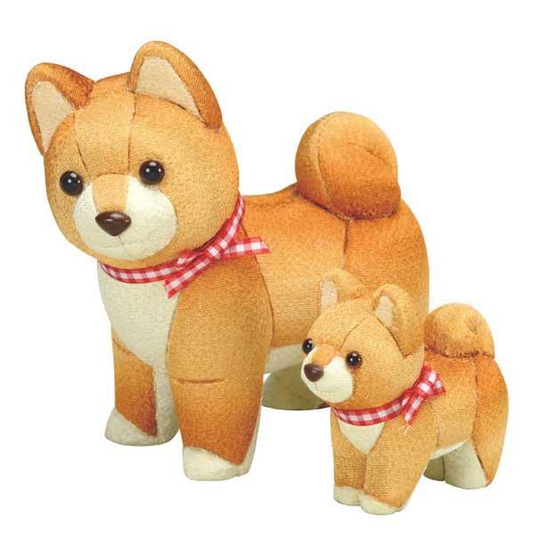 01-883 木目込み人形 犬の親子 完成品