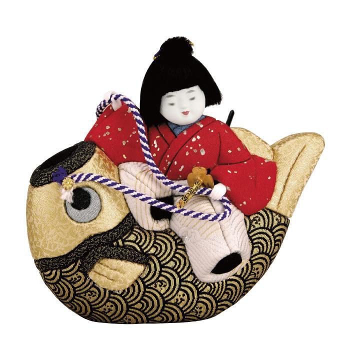 01-617 木目込み人形 鯉のり童子 完成品