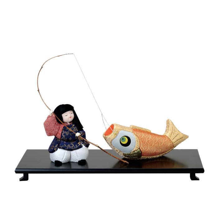 01-396 木目込み人形 鯉釣り 完成品