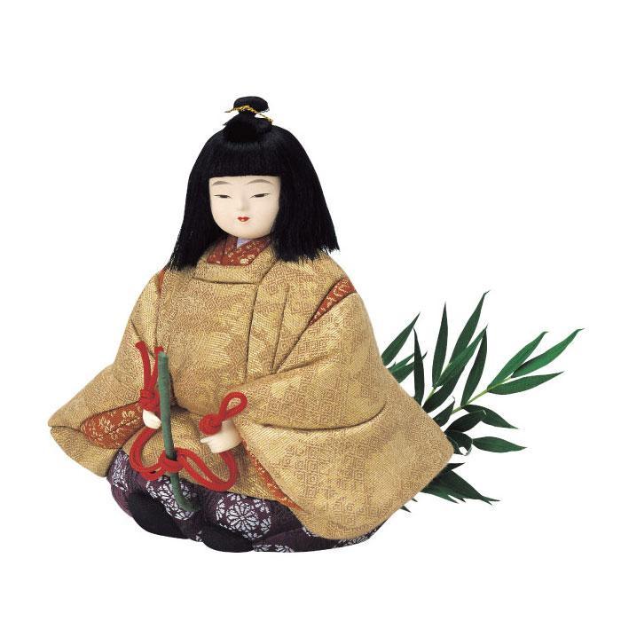 01-073 木目込み人形 笹馬 完成品