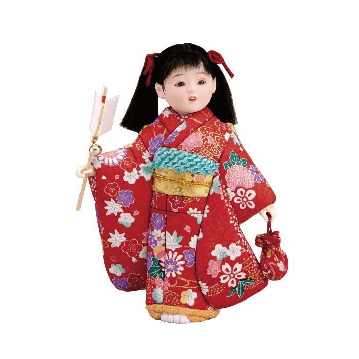 01-603 木目込み人形 初詣 完成品