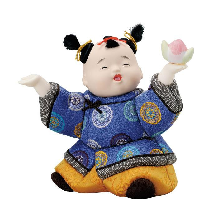 01-658 木目込み人形 唐子の舞 完成品