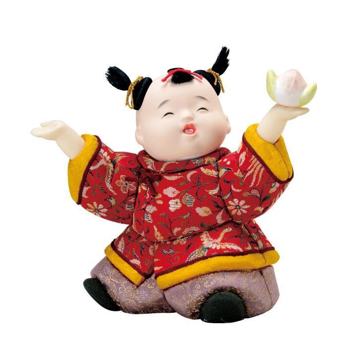 01-659 木目込み人形 唐子の舞(正絹) セット
