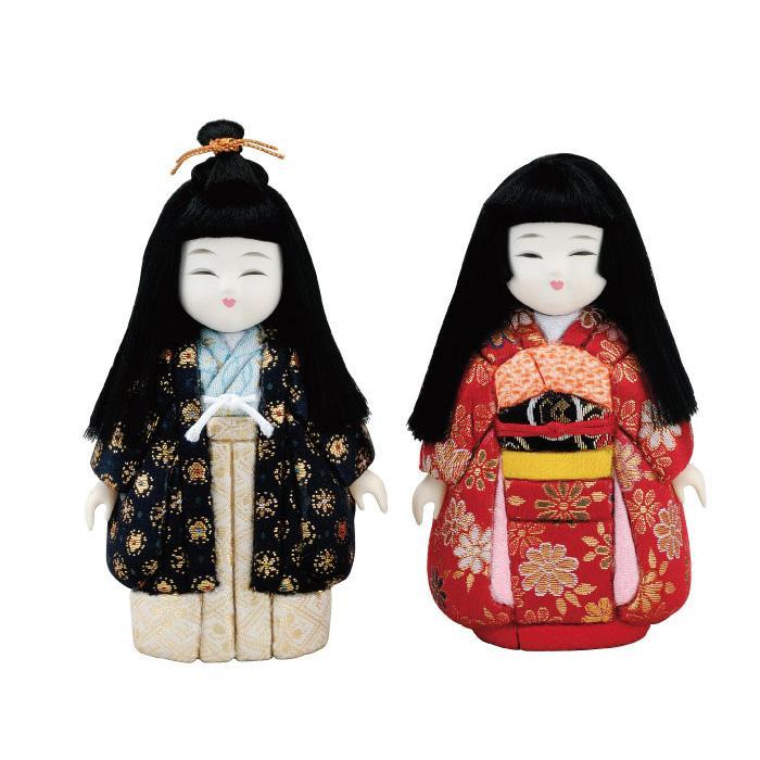 01-015 木目込み人形 豆市松 完成品