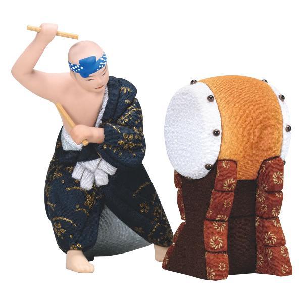 01-878 木目込み人形 勇み太鼓 セット