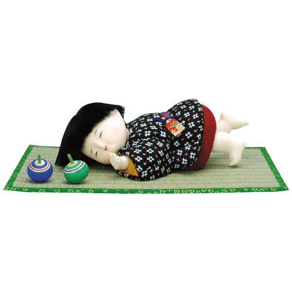 01-551 木目込み人形 陽だまり(コマ・畳付) 完成品