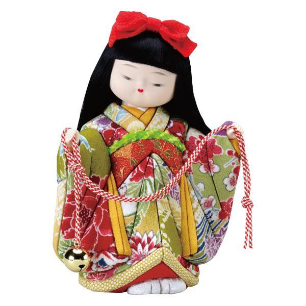 01-713 木目込み人形 鈴の音 完成品