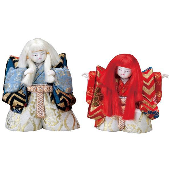 01-348 木目込み人形 連獅子(5号) セット