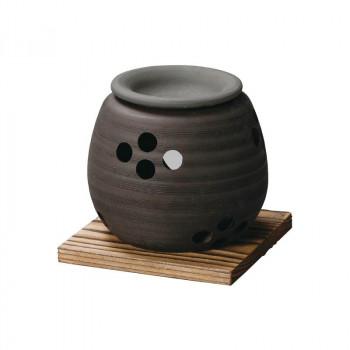 贈り物や普段使いにもおすすめです。 石龍黒泥大丸茶香炉 M-1605【離島・沖縄は送料別】※北海道への配送は不可商品です。【代引・同梱・ラッピング不可】