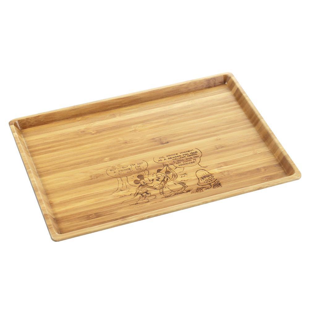 ナチュラルな雰囲気がかわいい竹製のお盆 マート 竹製角型プレート L ミッキーマウス MA-1626 ラッピング不可 代引 同梱 百貨店
