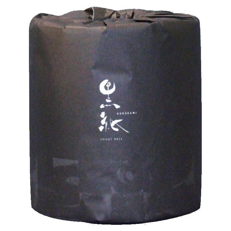 黒紙トイレットペーパー W30m 48個入 2038【代引・同梱・ラッピング不可】