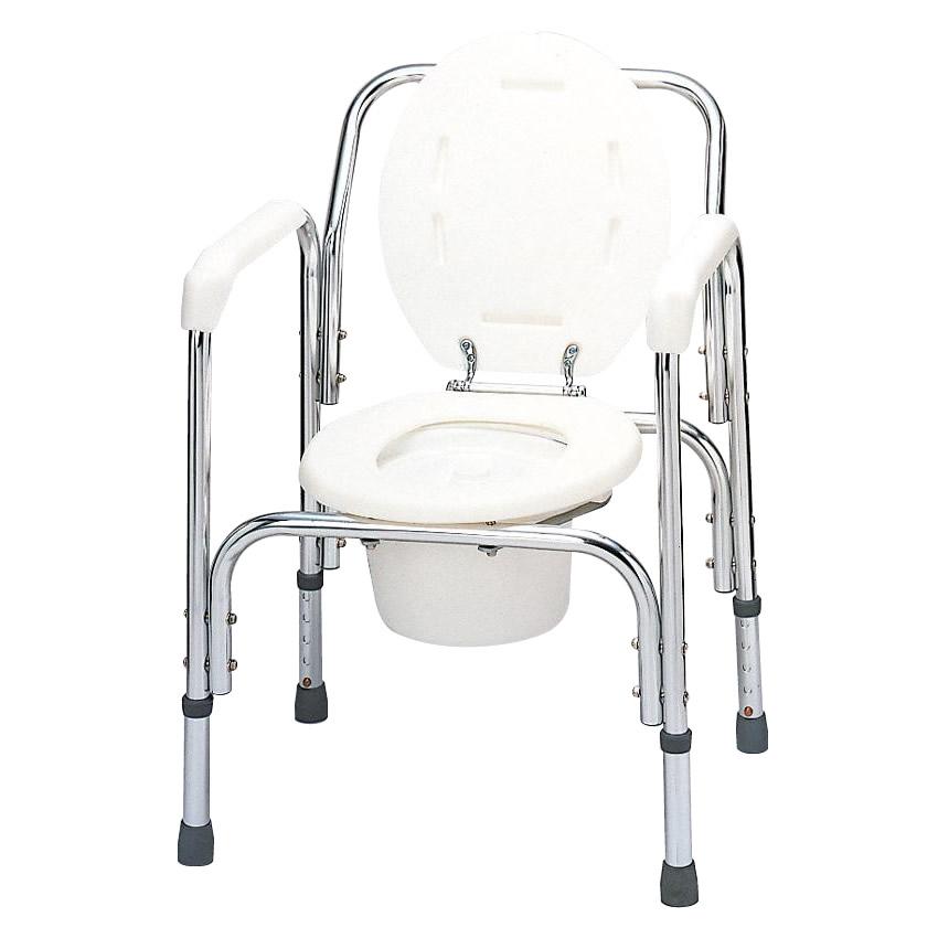 テツコーポレーション アルミ製トイレチェア 6089-2134【代引・同梱・ラッピング不可】