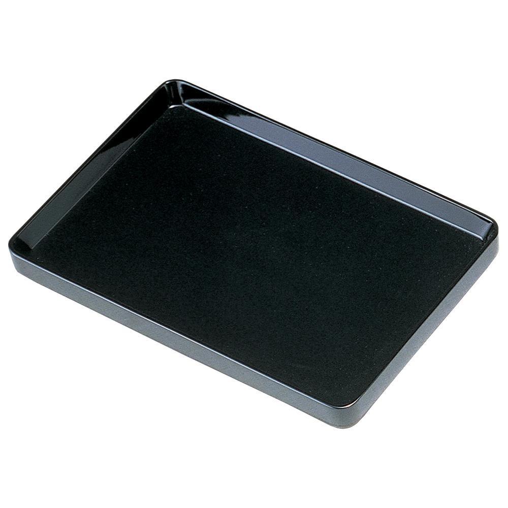木製切手盆 黒 (切立) 33cm 0103004