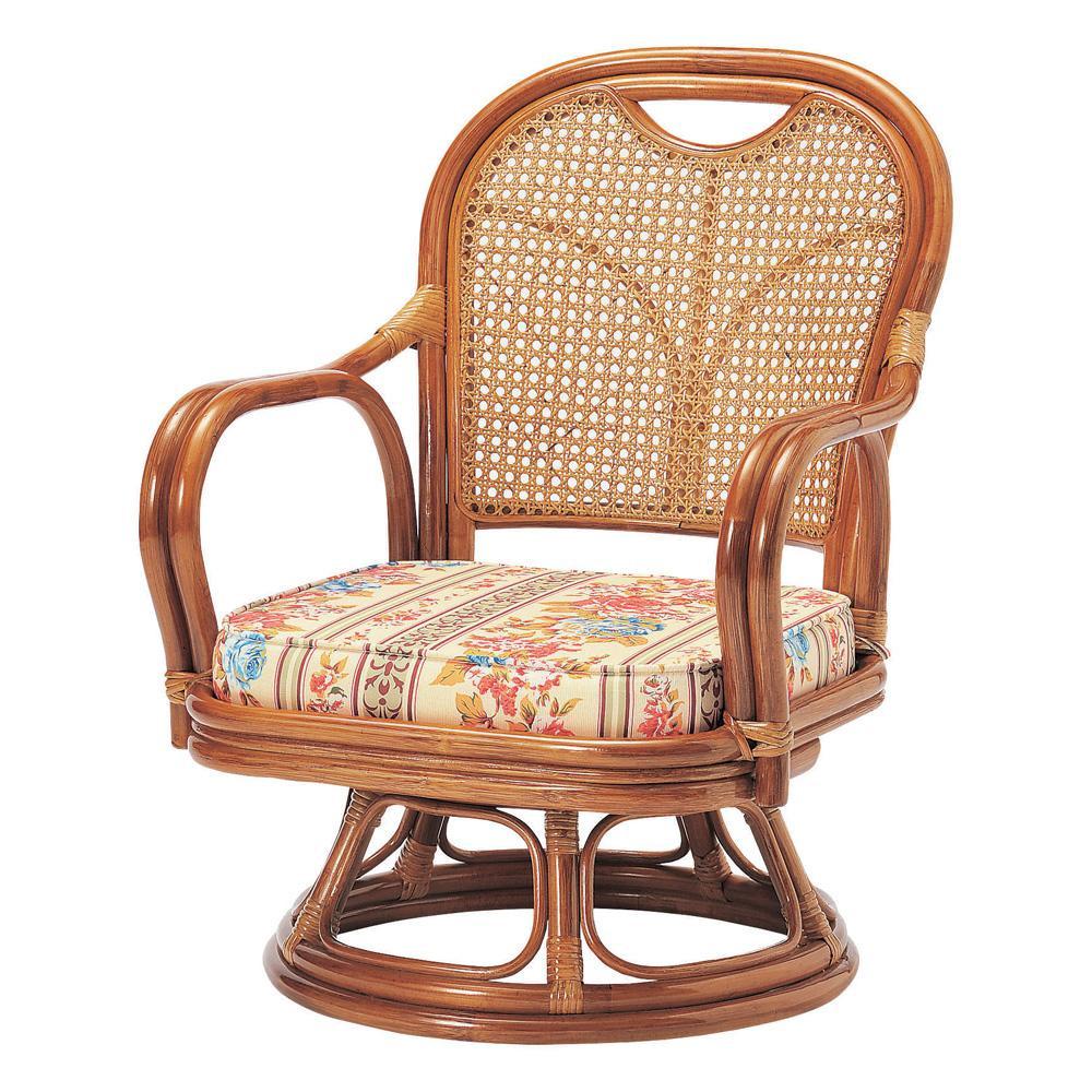 ラタン回転椅子 ロータイプ(SH290) R-290S【代引・同梱・ラッピング不可】【北海道・離島・沖縄は送料別】