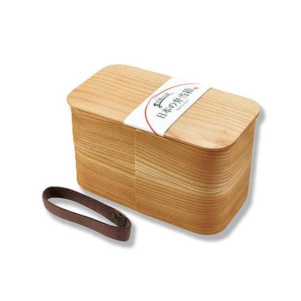ヤマコー 日本の弁当箱 長角 二段 89715